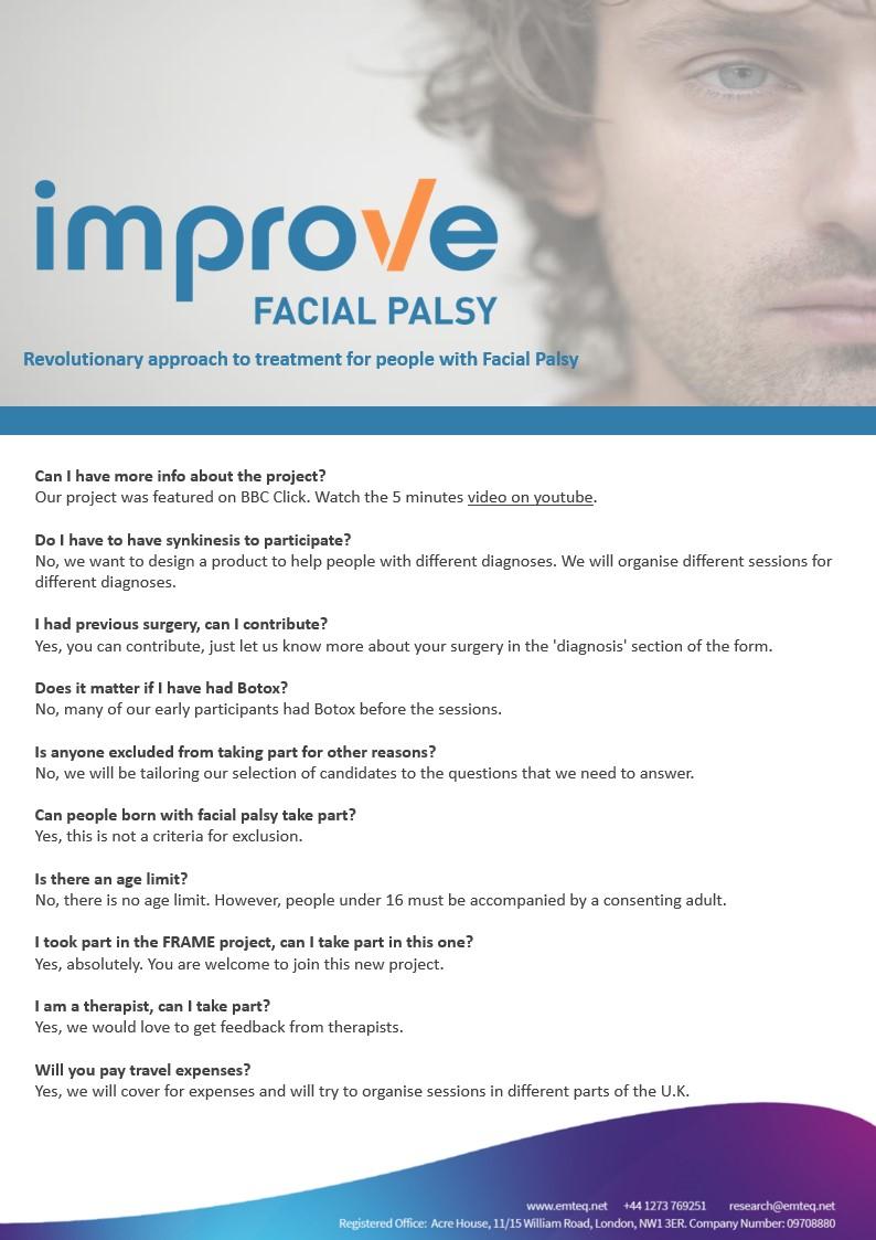 Improve Facial Palsy - Emteq Research Slide 2